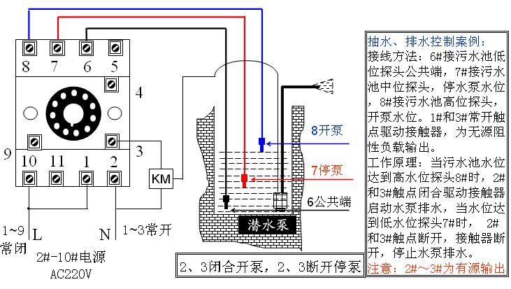 全自动给水,排水双控制接线图